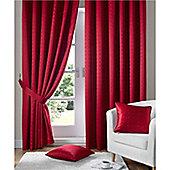 Alan Symonds Madison Pencil Pleat Curtains - Red