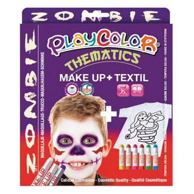 Playcolor Basic Make Up Pocket 5g + Textil One 10g Face Paint Stick (Zombie Set)