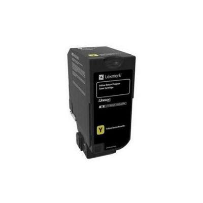 Lexmark 3K Yellow Return Program Toner Cartridge (CS72x