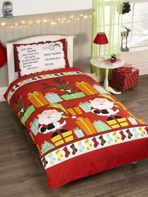 Santa's List Single Duvet Cover Set