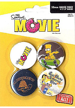 The Simpsons Movie I'm Different Badge Pack 10.5x14.5cm - Multi