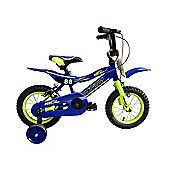 "Tiger 88 Moto Kidss Bike 14"" Wheel Blue/Yellow"