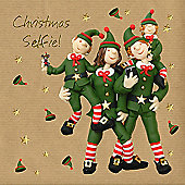 Holy Mackerel Greeting Card - Christmas Card - Christmas Selfie