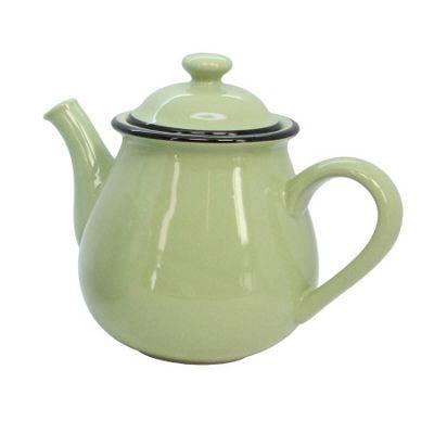 Green Vintage Style Teapot