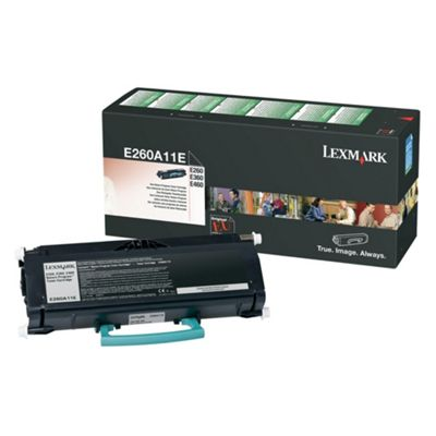 Lexmark E260, E360, E460 Return Programme Toner Cartridge (3.5K) - Black