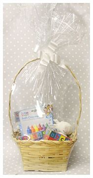 Babys 1st Birthday Bundle In Basket Unisex