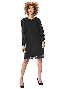 Vero Moda Cuffed Sleeve Dress - Black