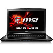"""MSI GL72 Core i5 8GB 1TB nVidia GeForce GTX 950M 2GB Win 10 17.3"""" Black Gaming Laptop"""