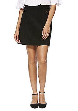 F&F Corduroy A-Line Skirt - Black