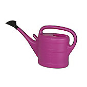 10L Fuchsia Plastic Garden Watering Can with Rose