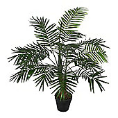 Homescapes Green Mini Palm Tree Artificial Plant with Pot, 100 cm