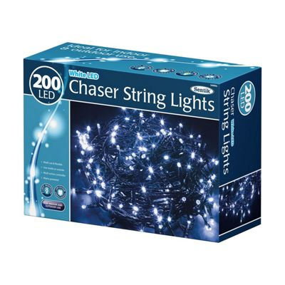 200 LED White Chaser Indoor Outdoor Garden Christmas Party String Lights
