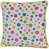 Homescapes Cotton Multi Colour Polka Dots Cushion Cover, 30 x 30 cm
