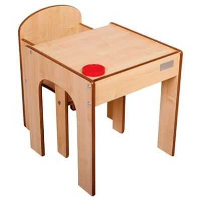 Little Helper Fun Station Toddler Table & Chair Set In Maple
