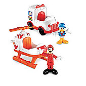 Fisher Price Goofy And Donald Rescue Vehicles