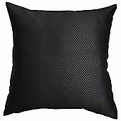 Homescapes Black Herringbone Chevron Prefilled Scatter Cushion