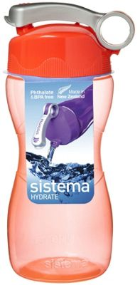 Sistema Hourglass Drink Bottle 475ml, Orange