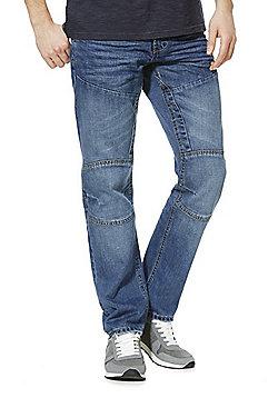 F&F Straight Leg Jeans with Belt - Mid wash