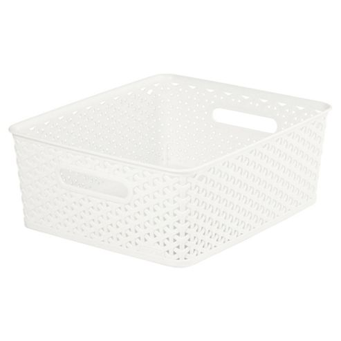 buy curver my style cream 13l medium storage box from our. Black Bedroom Furniture Sets. Home Design Ideas