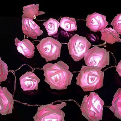 Buy Sentik 20 Pink LED String Rose Flower Fairy Lights ...