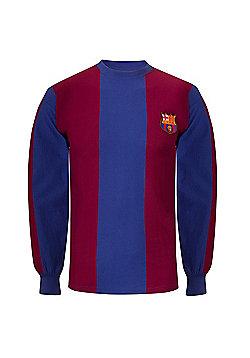 FC Barcelona Mens 1974 1979 Shirt - Claret & Blue