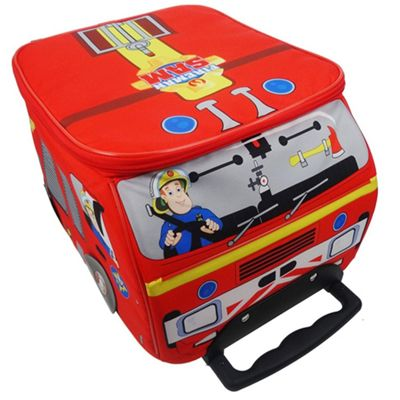 Character Fireman Sam School Travel Luggage Bag