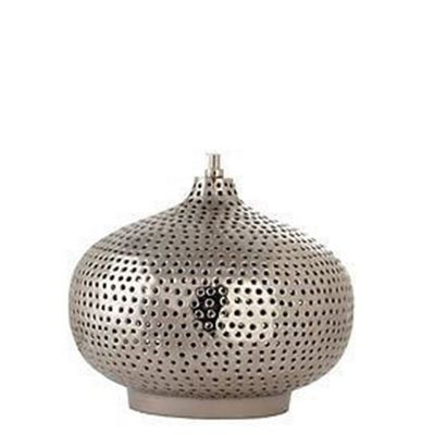 Punched Iron-Nickel Table Lamp Base Only Oval Modern Design