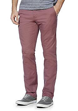 F&F Stretch Straight Leg Chinos - Dusky pink