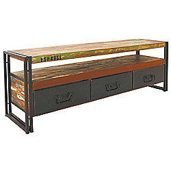 Baumhaus Urban Chic Tv Stand For Up To 80 Inch Tvs