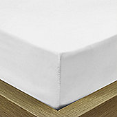 Julian Charles Luxury 180 Thread Count Fitted Sheet - White