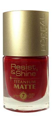 Buy L'Oréal Resist & Shine Titanium Matte Nail Polish 9ml