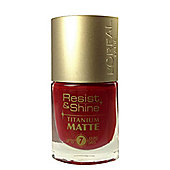 L'Oréal Resist & Shine Titanium Matte Nail Polish 9ml-500M