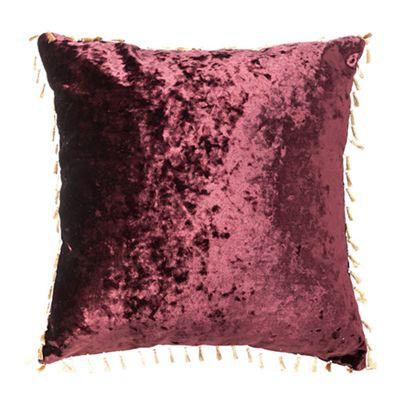 Mulberry Crushed Velvet Cushion 24