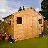Deluxe Tongue & Groove Workshop Double Doors Garden Wooden Shed
