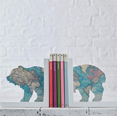 Explorer Bear Map Bookends