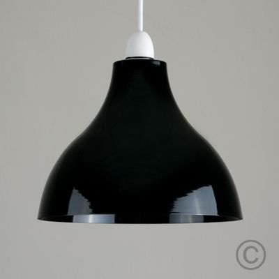 Dexter Industrial Style Ceiling Pendant Light Shade, Black
