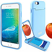 Orzly® 'On the Move' Case for iPhone 6 and 6S with Stand, Card Holder & Mirror - BLUE