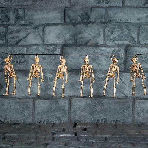 Skeleton Garland - 1.5m Halloween Decoration (each)