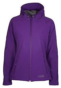 Arctic Women's Softshell Hooded Fleece Lined Water Resistant Breathable Jacket