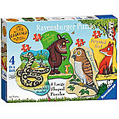 The Gruffalo - 4 in 1 Shaped Puzzles
