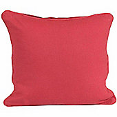 Homescapes Cotton Plain Red Scatter Cushion, 45 x 45 cm