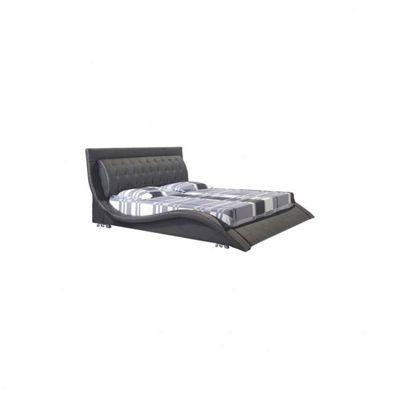 Alpha furniture Naples Italian Bed Frame - Black - King (5')