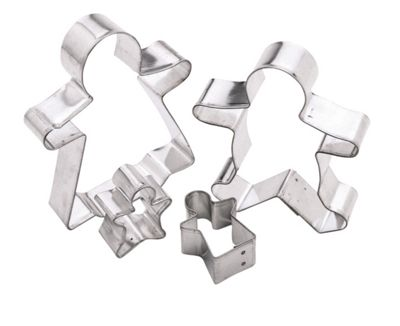 Kitchen Craft Metal Gingerbread Cutters X4