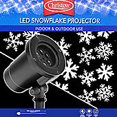 Christow Decorations LED Snowflake Projector