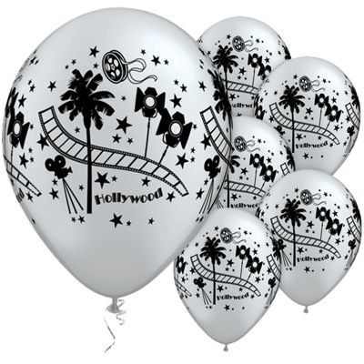 Hollywood Stars 11 inch Latex Balloons - 25 Pack