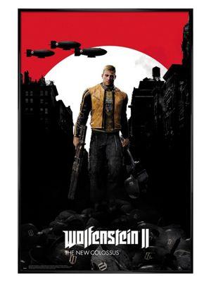 Wolfenstein 2 Gloss Black Framed Poster 61 x 91.5cm