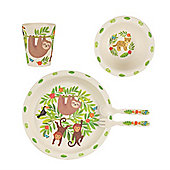 Children's Eco-Friendly 5pc Dinner Set - Monkey Friends