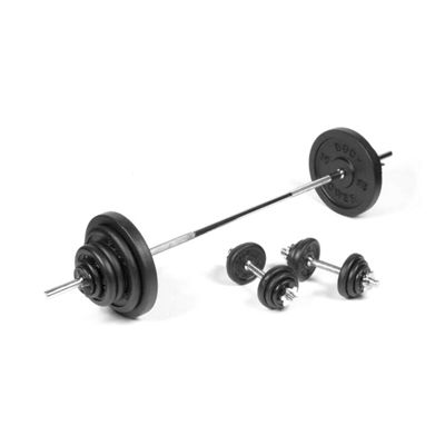 Body Power 111Kg 6FT SPINLOCK Weight Set