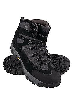 Atmosphere Mens Waterproof Rainproof Vibram Sole Padded Walking Boots - Black