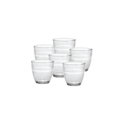 Duralex Gigone Water / Juice Tumbler Glasses - 160ml - x6